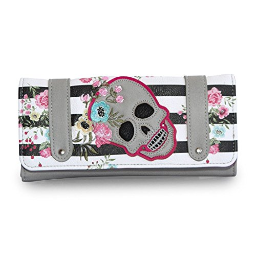 loungefly-grey-skull-flowers-stripes-wallet