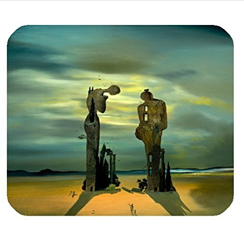 Custom classic salvador dali painting pattern cloth cover rectangle Mouse Pad 8.87 X 7.28 inch - Custom Les Classic Paul