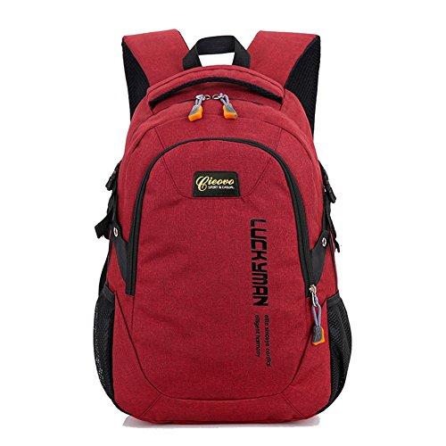 Unisex Rucksack Campus - Cieovo Schulrucksack Rucksack Kinderrucksack Outdoor Freizeit Schultaschen Rot -