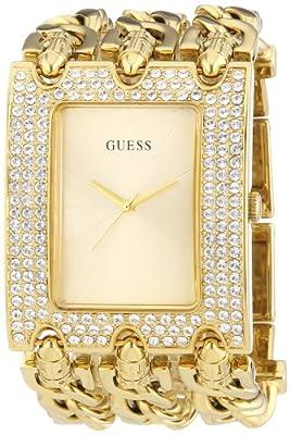 Guess Guess W0085L1 - Reloj analógico de cuarzo para mujer, correa de acero inoxidable chapado color dorado
