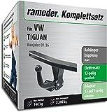 Rameder Komplettsatz, Anhängerkupplung starr + 13pol Elektrik für VW TIGUAN (142293-36223-1)