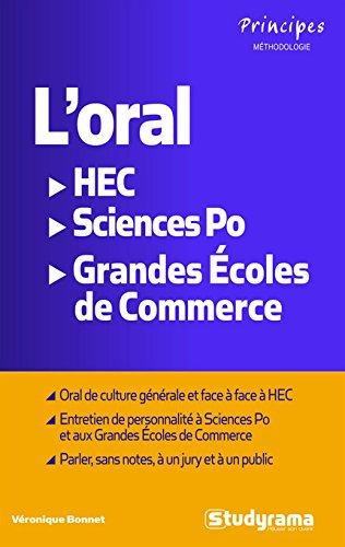 L'oral HEC, Sciences Po, Ecoles de commerce par Véronique Bonnet