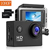 Action Kamera 1080P 16MP Sports Cam - BUIEJDOG Ultra Full HD WIFI Action Camera 170 ° Weitwinkel 30...