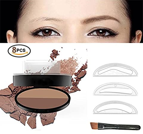 Augenbrauen Stempel Stempel: Powder Frauen Eye Makeup Enhancer Wasserdicht Langlebig