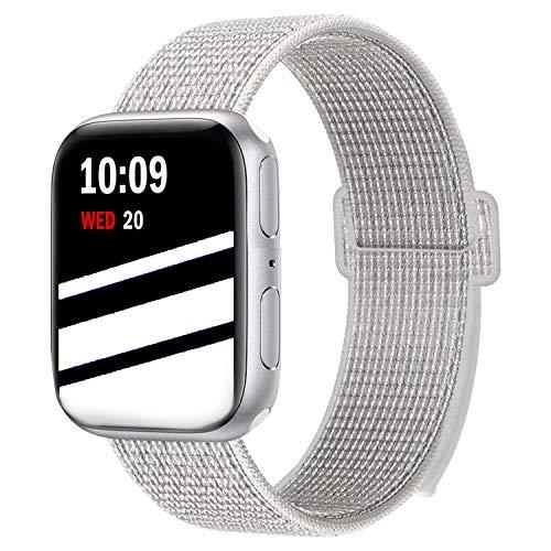 Wengerui Compatibile con Watch Cinturino 42mm/44mm, Morbido Nylon Cinturini di Ricambio Sostituzione per Watch Series 4/ Series 3/...