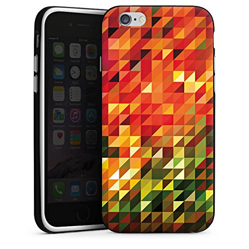 Apple iPhone X Silikon Hülle Case Schutzhülle Kristalle Herbst Abstrakt Silikon Case schwarz / weiß