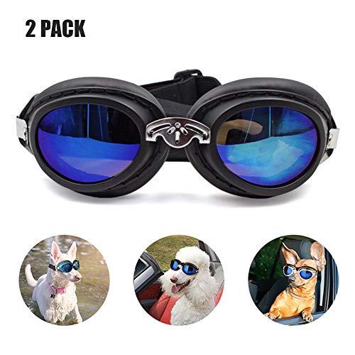 YOCC Pet Goggles & Pet Sonnenbrillen, UV-Schutz Doggie Sonnenbrillen Big Dog Eye Wear Schutz/Motorrad wasserdicht Faltbare einstellbare Band