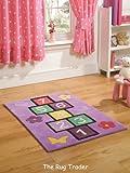 Kiddy Play Hopscotch Lilac Rug 70cm x 100cm