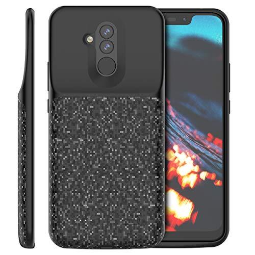 Banath Huawei Mate 20 Lite 5500mAh Akku hülle, Akku Handyhülle Extern Wiederaufladbarer Tragbarer Ladekoffer Power Backup Case Schutzhülle(Schwarz)