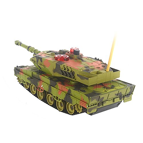German Leopard 2A5 RC ferngesteuerter Panzer,Gefechtmodi,Schuss,Sound und Beleuchtung,Komplett-Set -