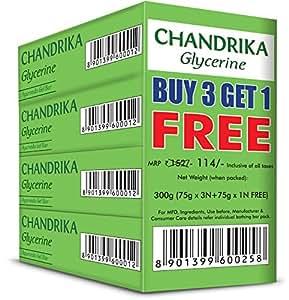 Chandrika Glycerine  Ayurveda Gel Bar, 75g (Buy 3 Get 1 Free)