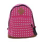 DonDon Kleiner Kinderrucksack für Mädchen und Jungen mit Sternen pink 26 x 25 x 10 cm