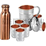 King International Diwali Gifting, Corporate Gifting Stainless Steel And Copper Lemon Set With Copper Plain Bottle