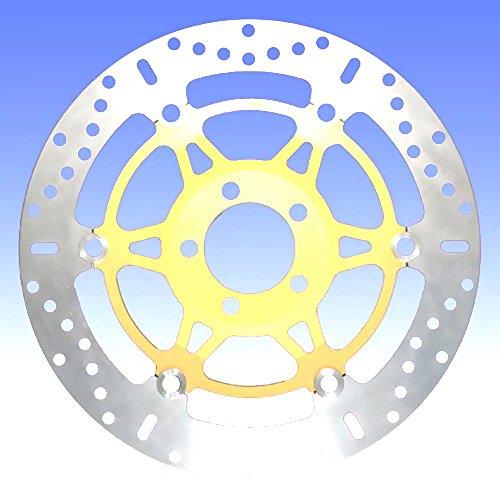 Preisvergleich Produktbild EBC Bremsscheiben INOX X-Disc (eintragungsfrei mit ABE)<br>Ø=310mm / schwimmende Edelstahl Bremsscheibe mit goldenem Aluminium-Innenring