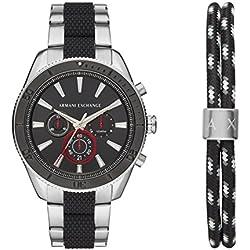Armani Exchange Reloj Cronógrafo para Hombre de Cuarzo con Correa en Acero Inoxidable AX7106