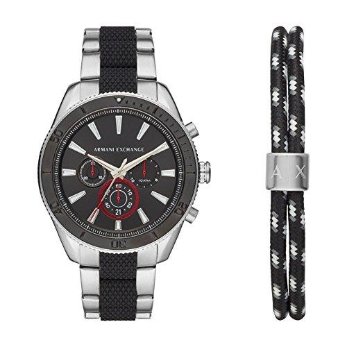 8b4c4d56310d Armani Exchange Reloj Cronógrafo para Hombre de Cuarzo con Correa en Acero  Inoxidable AX7106