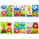 FriendGG Jigsaw Toys, 1PC Wooden Puzzle Educational Developmental Baby Kids Training Toy Best Birthday Present Gift for Kids Boys&Girls Toddlers Early Education And Learning Creative Toys