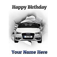 A5 Personalised Audi A3 Car Birthday Card refPIDZ71