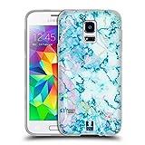 Head Case Designs Aquamarine Schimmerndes Marmor Soft Gel Hülle für Samsung Galaxy S5 Mini