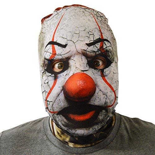 gruselig Halloween Gesichtsmaske rot Nase gesprungen Clown Exorzist -
