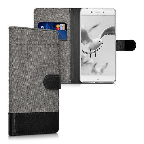 kwmobile ZTE Nubia Z11 Hülle - Kunstleder Wallet Case für ZTE Nubia Z11 mit Kartenfächern und Stand