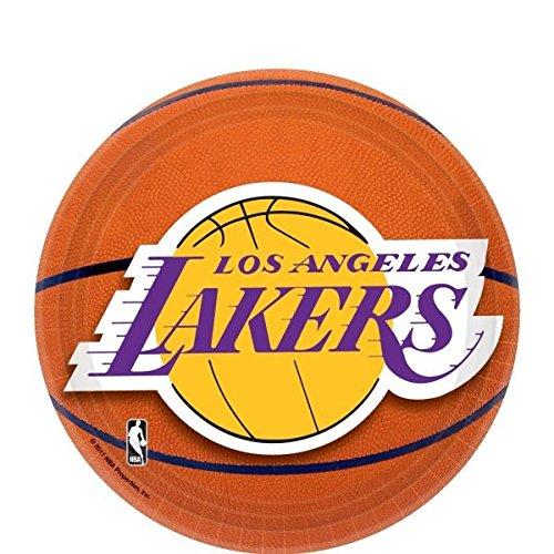 Amscan La. Lakers Dessert Plates, 7