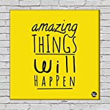 "Nutcase Framed Wall Art Decor Hanging Block Non-Fading Digital Painting For Living Room, Bedroom,Desk & Office Motivational Quote - 9""x9""( Screws Included) - Amazing Things"