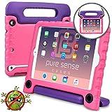 iPad Mini 1/2 / 3 Pure Sense Buddy Custodia Protettiva Anticaduta per Bambini, Robusta, Cover con Tracolla, Antibatterica, Antigermi, Massima Solidità + Manico, Supporto, Rosa