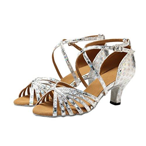 Minitoo ,  Damen Tanzschuhe Silver-6cm Heel