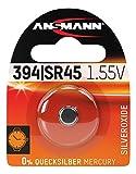 ANSMANN 1516-0016 silberoxid Knopfzelle SR 45/394 für Garagentoröffner, Alarmanlage, Funkauslöser silber