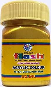 FLASH Acrylic Metallic Colour 24 Carats GOLD PLUS (Code 106) 50ML