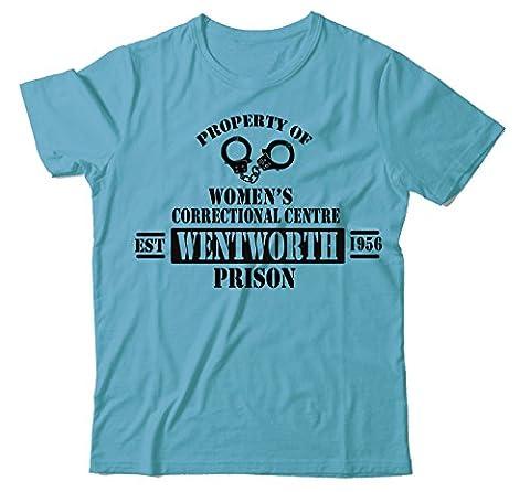 MAJESTIC-GARMZ Wentworth Womans Prison Light Blue Correctional Centre Unisex T-Shirt