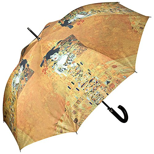VON LILIENFELD® Regenschirm Automatik Damen Kunst Motiv Gustav Klimt: Adele (Regenschirm Gustav Klimt)