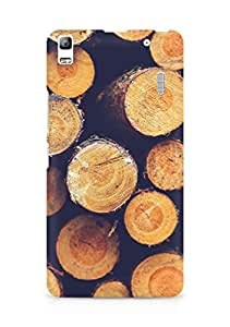Amez designer printed 3d premium high quality back case cover for Lenovo K3 Note (Wood circle piles nature blue pattern)
