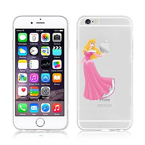 RONNEY'S Disney PRINCESSES Transparent TPU Soft case for Apple Iphone 7 PLUS AURORA
