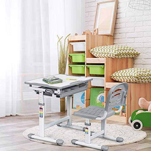 COSTWAY Kids Desk and Chair Set,...