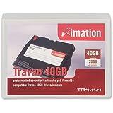 Imation Cartridge TRAVAN 20/40 GB - Cinta virgen (Tape Cartridge, 1:2, 4 MB/s, Negro, 8 mm, 228,6 m)