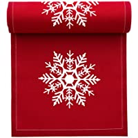 """MYdrap SA11N1/701-2 Holiday Printed Cocktail Napkin, 4.5"""" Length x 4.5"""" Width, Red with White Snowflake (10 Rolls of 50)"""