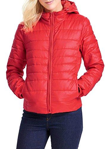 ONLY - Giacchetto piumino 100 grammi leggero con cappuccio tahoe contrast hooded xl rosso