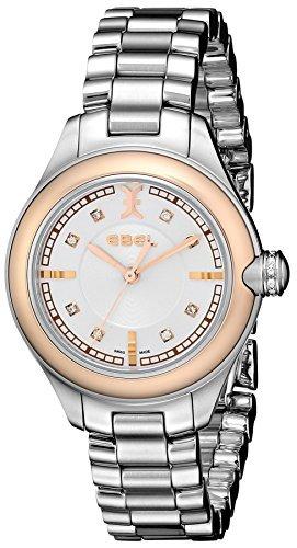 Ebel Mujer 1216094Onde diamond-accented acero y oro rosa reloj por Ebel