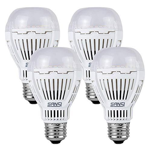 Sansi LED Leuchtmittel E27 Tageslicht 13W Energiesparlampe ultrahell 1600lm 5000K Weiß LED Lampe (ersetzt 100W Glühbirne),Nicht dimmbar,4er-Pack