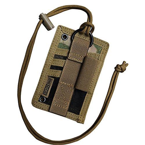 OneTigris tattica porta badge verticale ID Card Holder orizzontale con passante per penna Holder Neck Cordini, Uomo donna, Multicam - 500D Codura Nylon