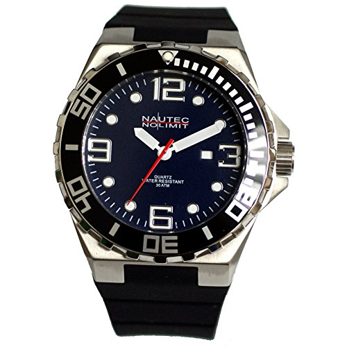 Nautec No Limit men's Quartz Watch Analogue Display and Rubber Strap STUR-QZ-RBSTBK-BL