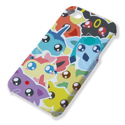 Fluffy Chamalow Cover per iPhone 4 e 4s, Pokemon Eeveelution (Evoluzione Eevee) Chibi e Kawai Chamalow-Shop