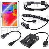 KIT SET ACCESSORI 8 in 1 per Samsung Galaxy Note Pro 12.2 SM-P9000 P900 P901 P905 CAVO DATI USB 3.0 / CAVO ADATTATORE OTG USB 3.0 / CAMERA CONNECTION KIT 5 IN 1 / CARICATORE DA AUTO CON PRESA USB SUPPLEMENTARE / 2 PELLICOLE
