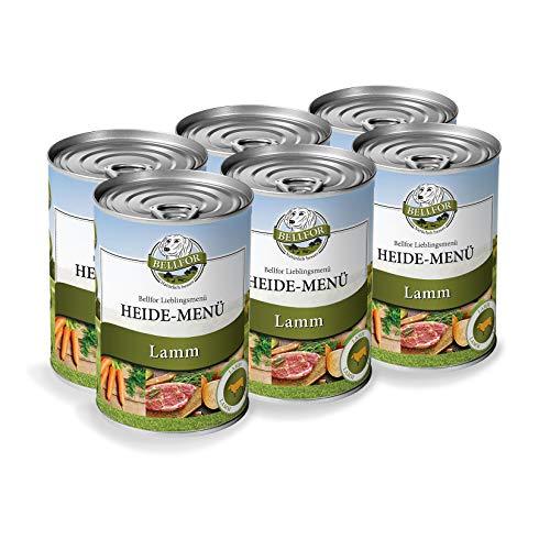 Bellfor Hypoallergenes Getreidefreies Nassfutter für den Hund. Mit frischem Lammfleisch 6 x 400g