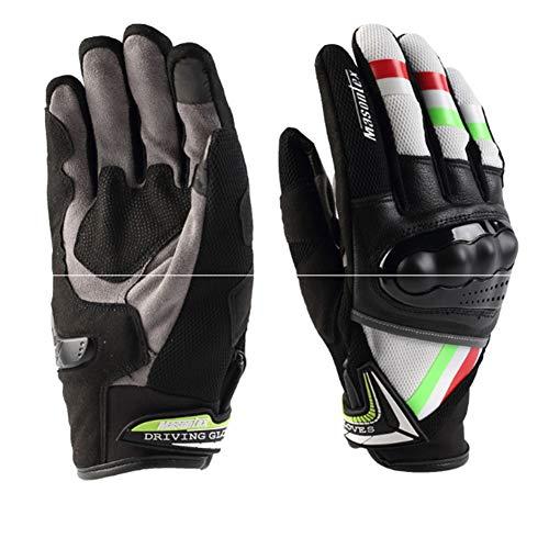 Gloves Motorradrennen Lokomotivfahrer Handschuhe Anti-Fall-Touchscreen-Handschuhe,Red,XL -