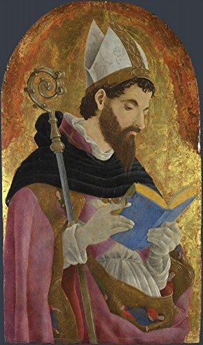 Das Museum Outlet-Marco Zoppo-Ein Bischof Heiliger, vielleicht Saint Augustine-Größe A3Poster Print Online