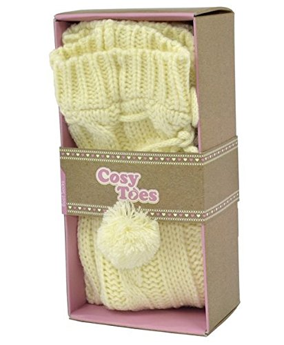 Cosy Toes Cream Cable Knit Boot Socks (Knit Boot)