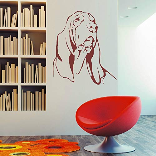 Applikation Wohnkultur BASSET HOUND DOG Vinyl Wandkunst Aufkleber Raumdekoration Wandbild Dekoration Aufkleber x cm -